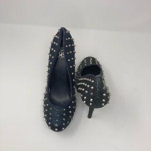 Speed Limit 98 Shoes - Blue Spike Heel